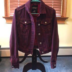 Pretty Little Liars Burgandy denim jacket